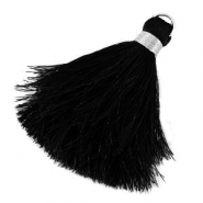 Tassels 6cm Limited edition Black-Silver