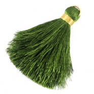 Tassels 6cm Limited edition Dark Guacamole Green-Warmgold