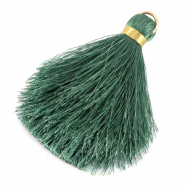 Tassels 6cm Limited edition Balsam Green-Warmgold