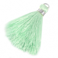 Tassels 6cm Limited edition Light Mint Green-Silver