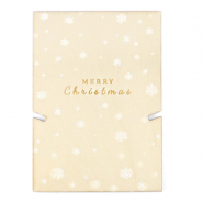 "Jewellery cards wood ""merry christmas"" Natural (natural wood colour)"