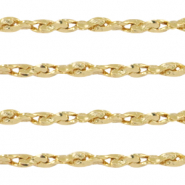 DQ European metal findings belcher chain brocante Gold