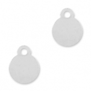 925 Silver charms round 5mm Silver