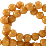 4 mm glass beads opaque Dark Cheddar Brown