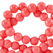 6 mm glass beads opaque Sweet Virtual Pink