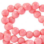 6 mm glass beads opaque Sweet Fruit Dove Pink
