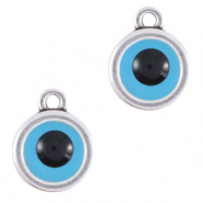 "DQ European metal charms ""evil eye"" Antique Silver (nickel free)"