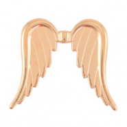 DQ European metal beads angel wings Rose Gold (nickel free)