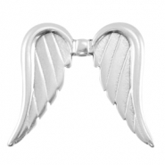 DQ European metal beads angel wings Antique Silver (nickel free)