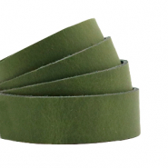 DQ European leather flat 20 mm Soft Guacamole Green