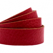 DQ European leather flat 20 mm Cranberry Red