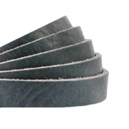 DQ European leather flat 10 mm Bluestone Grey