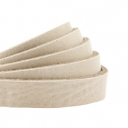 DQ European leather flat 10 mm Cream Beige