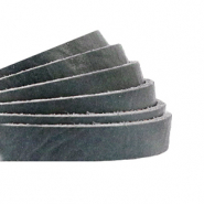 DQ European leather flat 5 mm Bluestone Grey