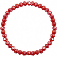 Top faceted bracelets 6x4mm Chillipeper Red-Pearl Shine Coating