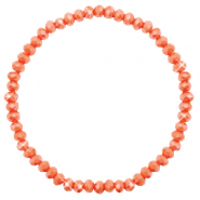 Top faceted bracelets 4x3mm Rust Orange-Pearl Shine Coating