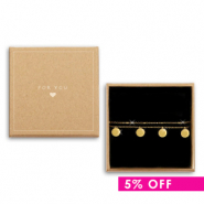 Gift deal 5 | jewellery box + stainless steel bracelet Gold