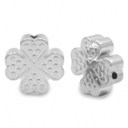 Hematite beads clover Antique Silver