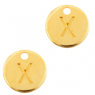 DQ European metal charms initial X Gold (nickel free)