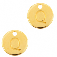 DQ European metal charms initial Q Gold (nickel free)