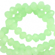 Top faceted beads 3x2mm disc Mint Green-Pearl Shine Coating