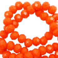 Top faceted beads 3x2mm disc Saffron Orange-Pearl Shine Coating