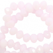 Top faceted beads 3x2mm disc Oleander Pink-Pearl Shine Coating