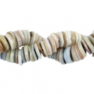 Shell beads disc 9mm Lavender Greige