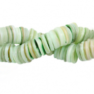 Shell beads disc 9mm Turquoise Green Mix