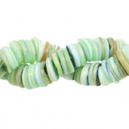 Shell beads disc 9mm Turquoise Blue Mix