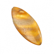 Shell beads oval Golden Brown