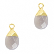 Natural stone charms Mirage Grey-Gold