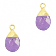 Natural stone charms Purple-Gold