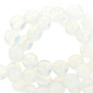 4 mm natural stone beads Opal Galaxy White