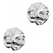 DQ European metal charms connector irregular Antique Silver (nickel free)