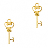DQ European metal charms key Gold (nickel free)