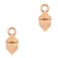 DQ European metal charms acorn Rose Gold (nickel free)