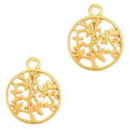 DQ European metal charms olive tree 15mm Gold (nickel free)