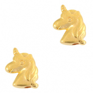 DQ European metal beads unicorn Gold (nickel free)