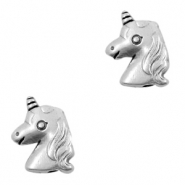 DQ European metal beads unicorn Antique Silver (nickel free)