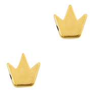 DQ European metal beads crown Gold (nickel free)