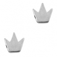 DQ European metal beads crown Antique Silver (nickel free)
