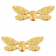 DQ European metal beads dragonfly Gold (nickel free)