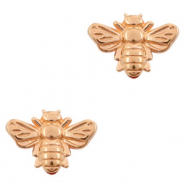 DQ European metal beads bee Rose Gold (nickel free)