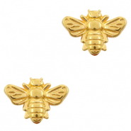 DQ European metal beads bee Gold (nickel free)