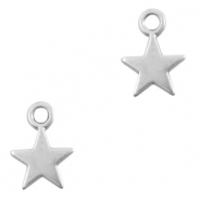 DQ European metal charms star Antique Silver (nickel free)