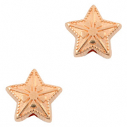 DQ European metal beads star Rose Gold (nickel free)