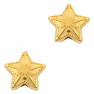 DQ European metal beads star Gold (nickel free)