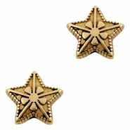 DQ European metal beads star Antique Bronze (nickel free)