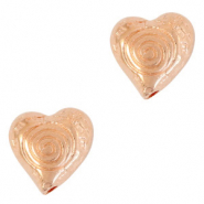 DQ European metal beads heart Rose Gold (nickel free)
